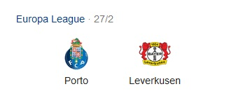 Pronostico Partita Porto vs. Bayer Leverkusen