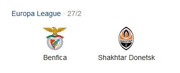Pronostico Partita Benfica vs. Schaktar Donetsk