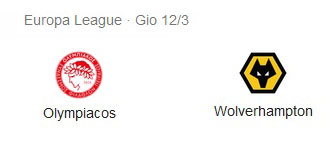 Pronostico Partita Olympiakos vs Wolverhampton