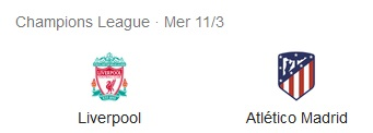 Pronostico Partita Liverpool vs Atletico Madrid